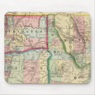 Ore, Wash, Idaho, Mont Map by Mitchell Mouse Mat