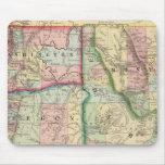 Ore, Wash, Idaho, Mont Map by Mitchell Mousepad
