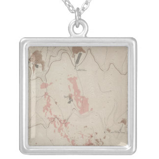 OreBodies and Topography of MineHill, New Almaden Silver Plated Necklace