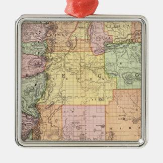 Oregon 3 Silver-Colored square decoration