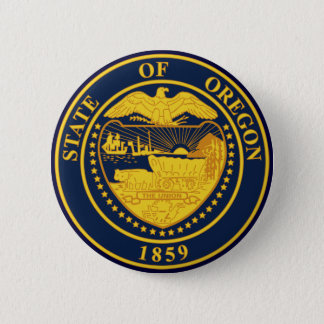 Oregon 6 Cm Round Badge