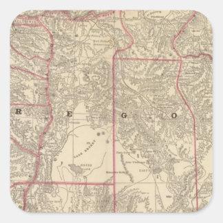 Oregon 6 square sticker