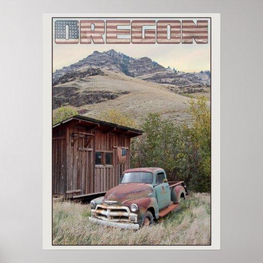 Oregon Americana Poster