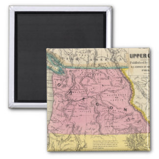 Oregon and California 2 Magnet
