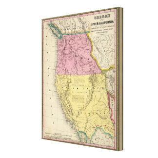Oregon and California Canvas Print