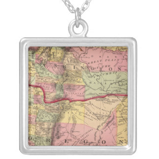 Oregon, and the Territory of Washington Silver Plated Necklace
