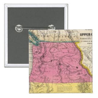 Oregon and Upper California 15 Cm Square Badge