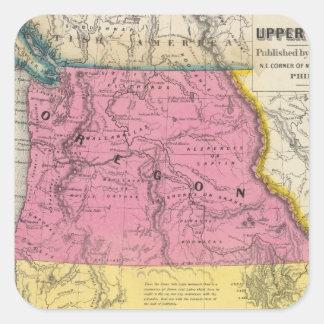 Oregon and Upper California Square Sticker