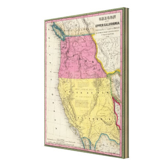 Oregon and Upper California Stretched Canvas Prints