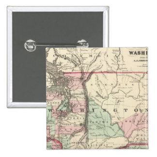 Oregon and Washington 15 Cm Square Badge