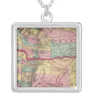 Oregon and Washington Territory Silver Plated Necklace