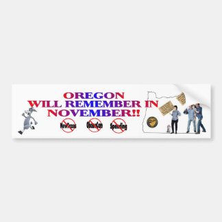 Oregon - Anti ObamaCare, New Taxes & Spending Bumper Sticker