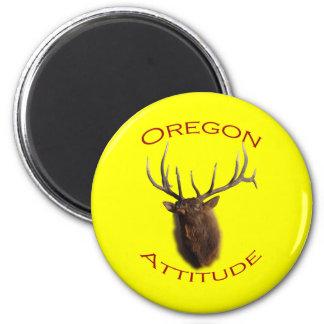 Oregon Attitude 6 Cm Round Magnet