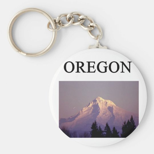 oregon basic round button key ring