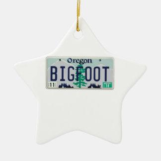 Oregon Bigfoot License Plate Christmas Ornament