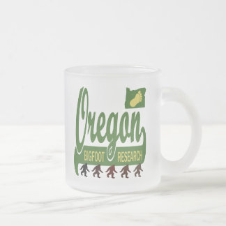 Oregon Bigfoot Research Frosted Glass Coffee Mug