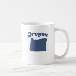 OREGON Blue State Basic White Mug