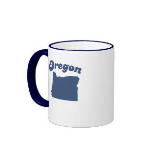 OREGON Blue State Ringer Mug