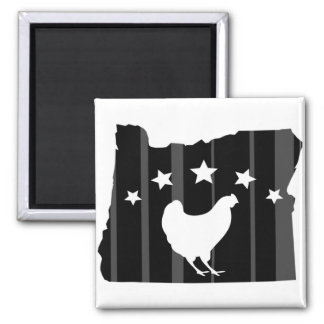Oregon Chicken Stars and Stripes Square Magnet