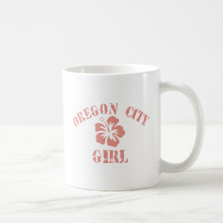Oregon City Pink Girl Basic White Mug
