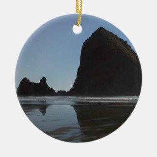 Oregon Coast Canon Beach Christmas Ornament