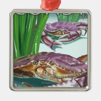 Oregon Coast Crab Christmas Ornament