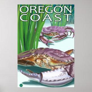 Oregon Coast Crab Poster