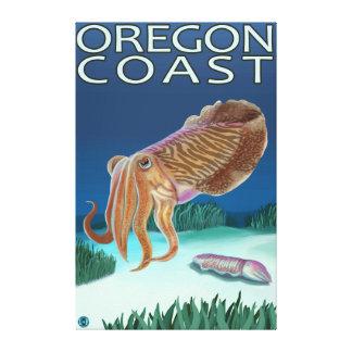 Oregon Coast Cuttlefish Stretched Canvas Print