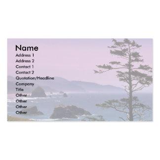 Oregon coast, Ecola State Park, Oregon Business Card Template