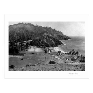 Oregon Coast Highway at Heceta Head Postcard