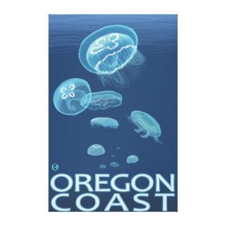 Oregon Coast Jellyfish Canvas Print