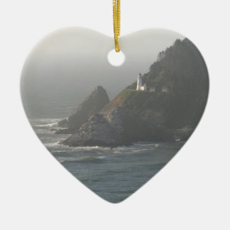 Oregon Coast Lighthouse Christmas Ornament