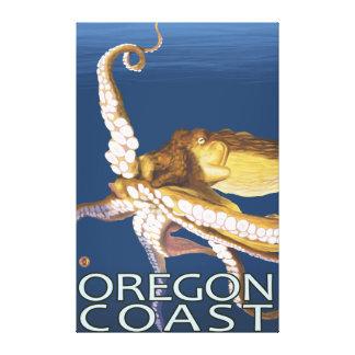 Oregon Coast Octopus Stretched Canvas Print