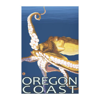 Oregon Coast Octopus Canvas Print