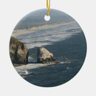 Oregon Coast Rocks Christmas Ornament