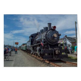 Oregon Coast Scenic Railroad Steam Engine Note Card