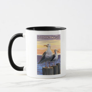 Oregon Coast Sea Gulls Mug