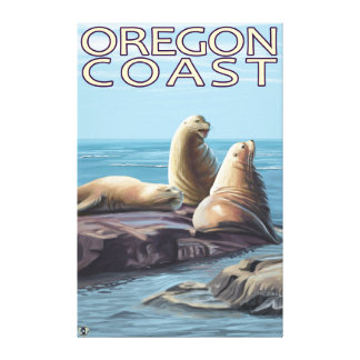 Oregon Coast Sea Lions Canvas Print