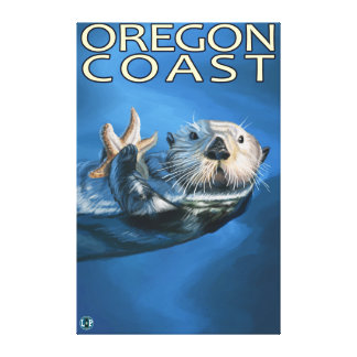 Oregon Coast Sea Otter Canvas Print