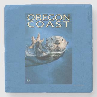 Oregon Coast Sea Otter Stone Coaster