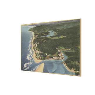 Oregon Coast - Siletz Bay, Taft, Nelscott Canvas Print