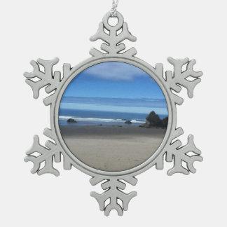 Oregon Coast Snowflake Ornament