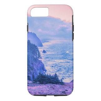 Oregon Coast Sunrise in Rose Quartz & Serenity iPhone 7 Case