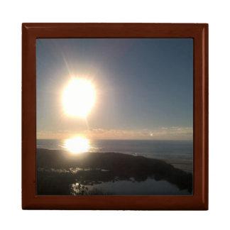 Oregon coast sunset large square gift box