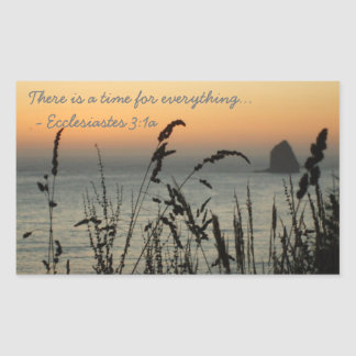 Oregon Coast Time for Everything Rectangular Sticker