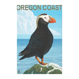 Oregon Coast Tufted Puffin Canvas Print