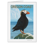 Oregon Coast Tufted Puffin Greeting Card