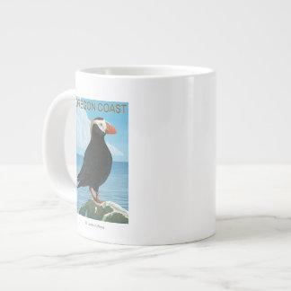Oregon Coast Tufted Puffin Large Coffee Mug