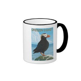 Oregon Coast Tufted Puffin Coffee Mugs