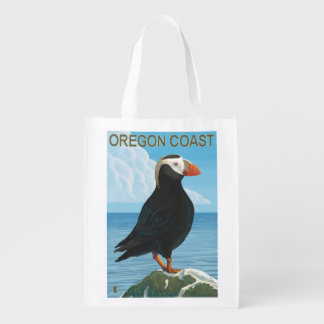 Oregon Coast Tufted Puffin Reusable Grocery Bag